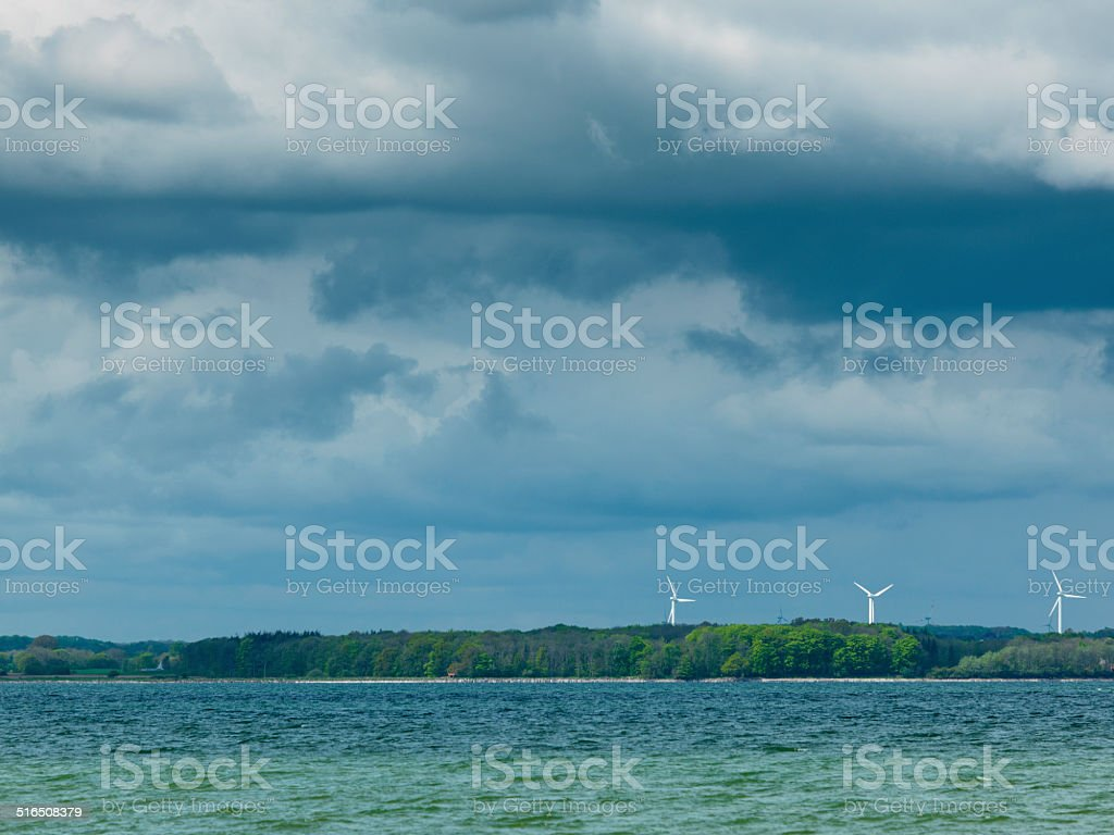 wind turbines, Schleswig-Holstein stock photo
