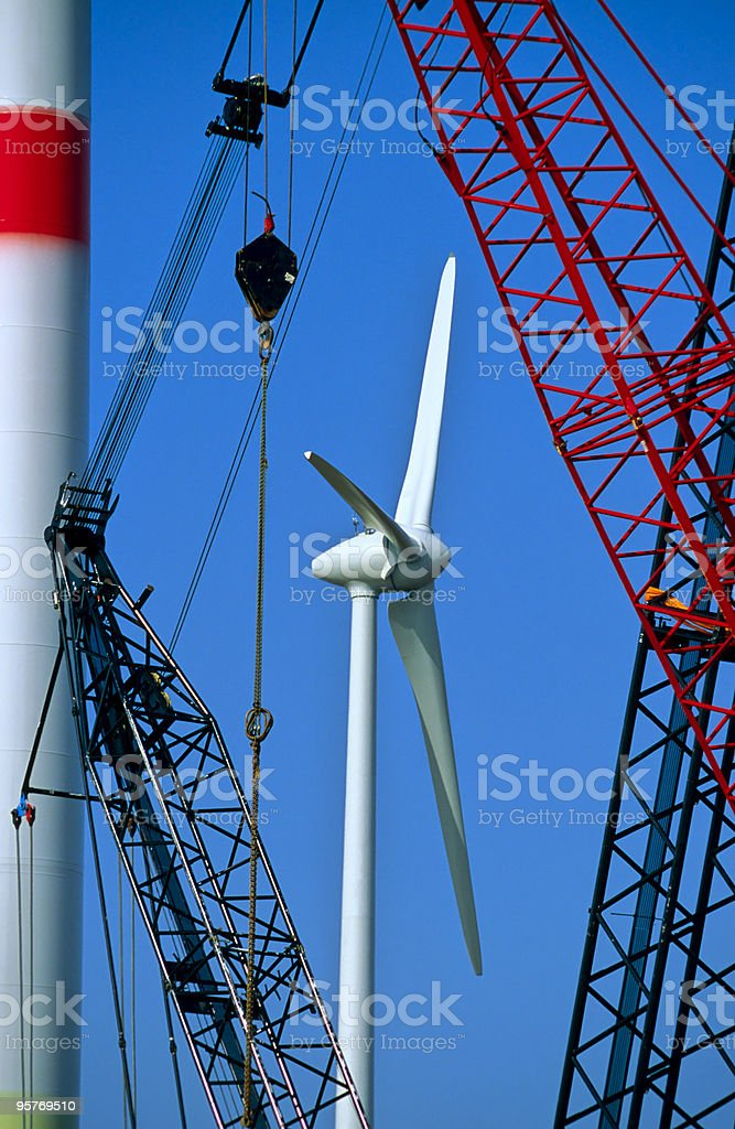 Wind Turbines Under Construction royalty-free stock photo