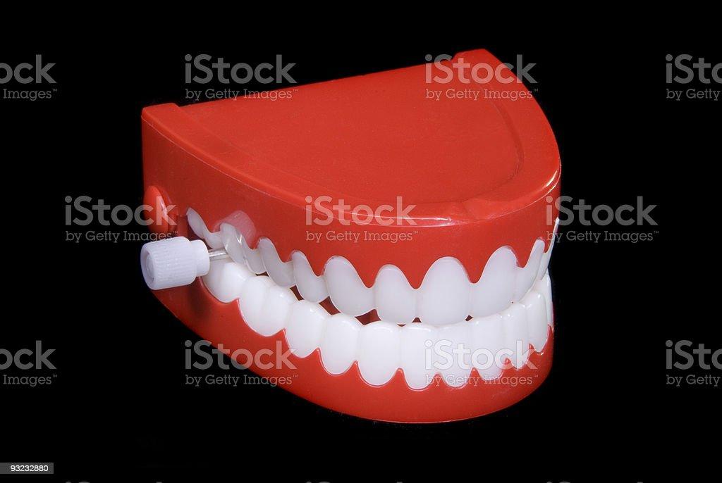 Wind up teeth stock photo