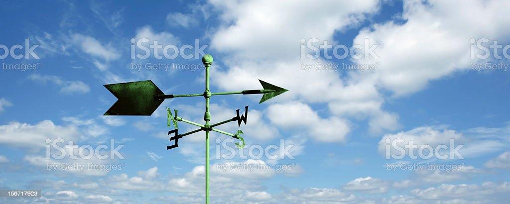 XXL wind vane stock photo