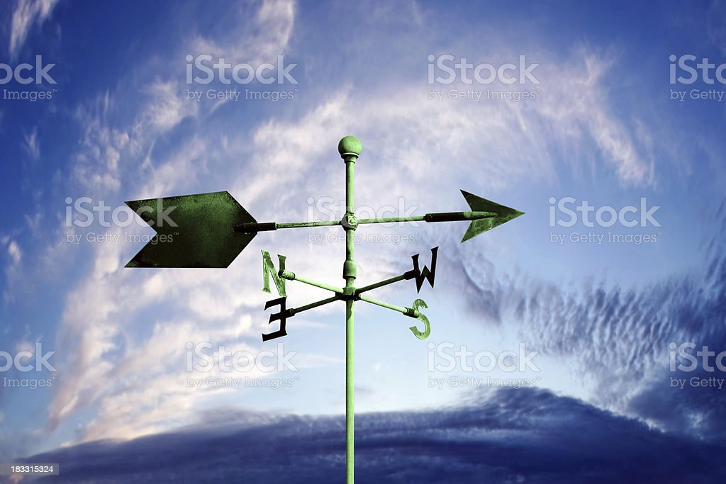XL wind vane royalty-free stock photo