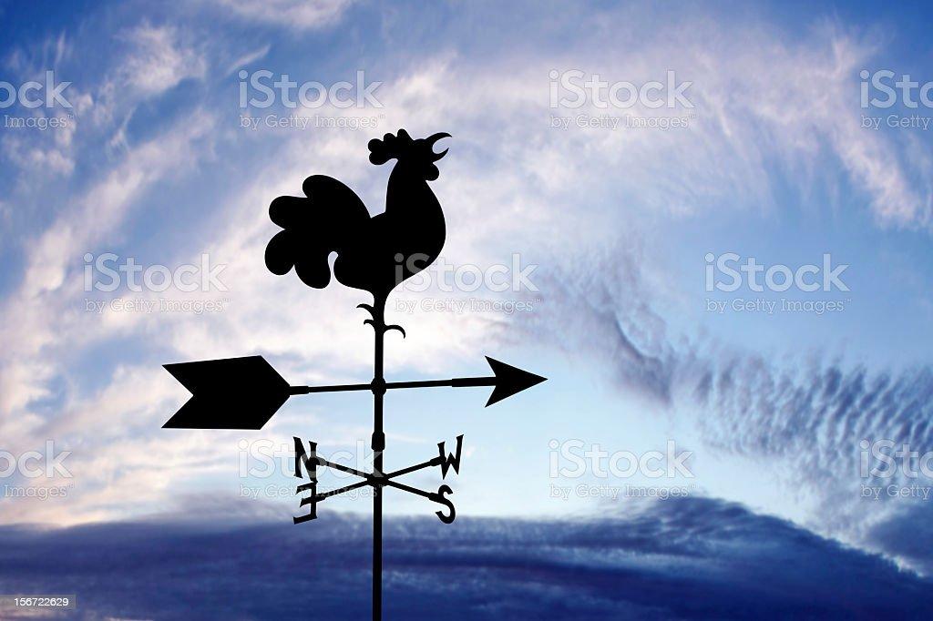 XXXL wind vane silhouette stock photo