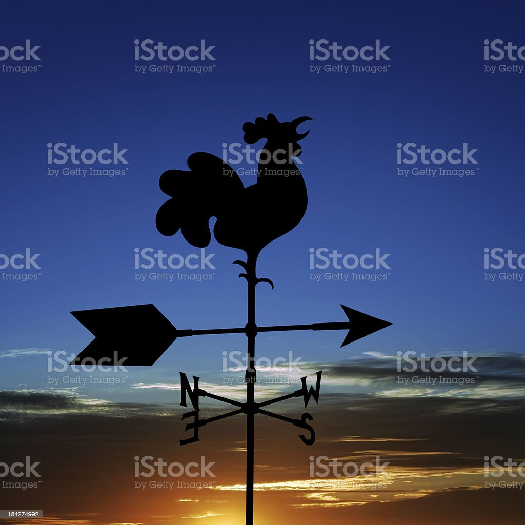 XL wind vane silhouette royalty-free stock photo