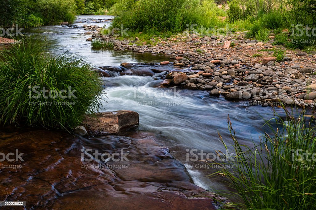Wind, Water, Red Earth and Sedona stock photo