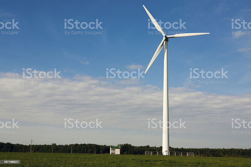 Wind wheel on blue sky royalty-free stock photo