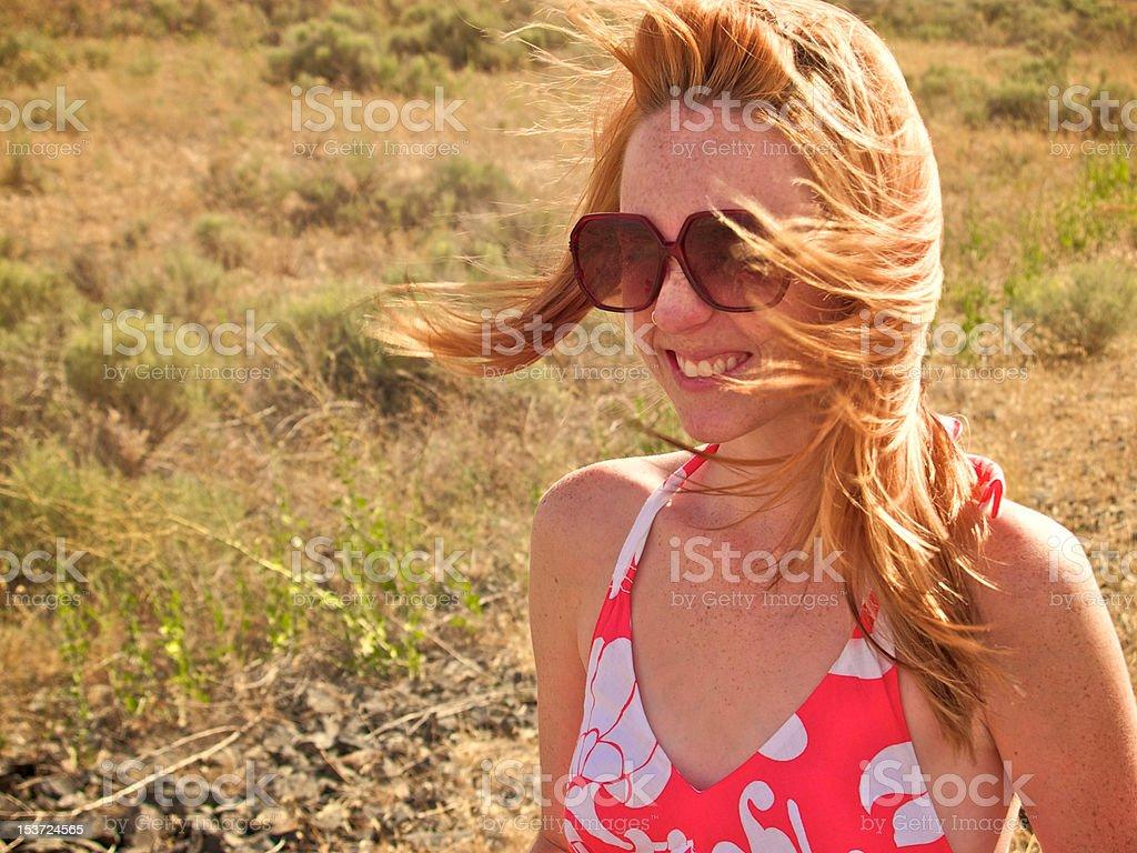 Windblown Beauty stock photo