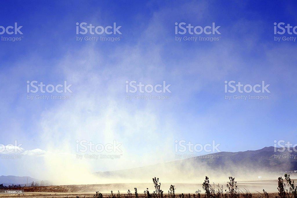 Windblown dust stock photo
