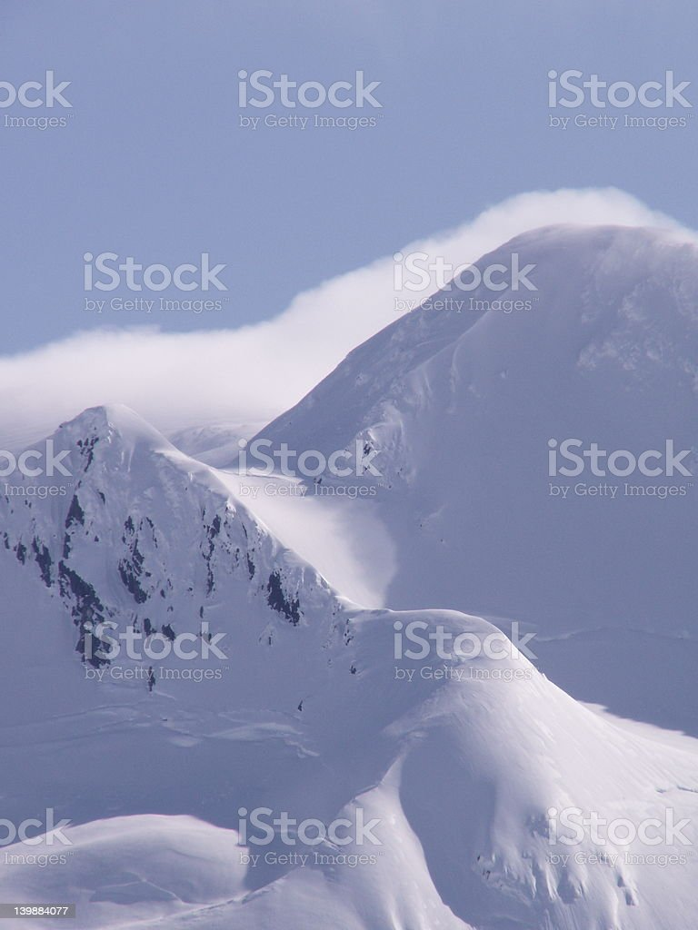 wind-blown mountain top royalty-free stock photo