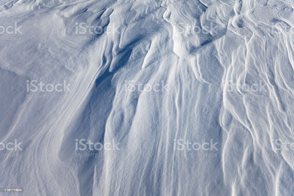 Windblown snow surface, background pattern royalty-free stock photo
