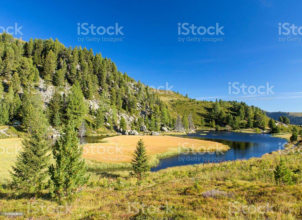 Windebensee, beautiful alpin lake in Austrian Alps stock photo