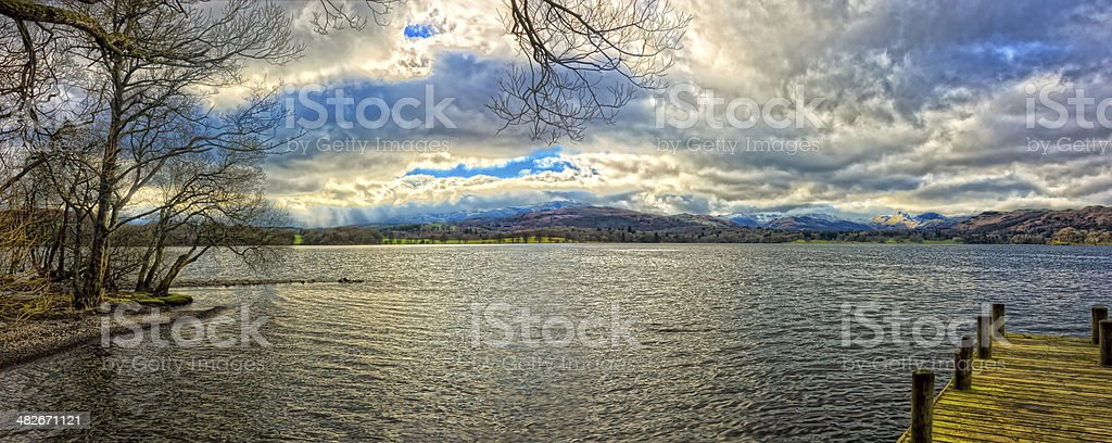 HDR Windemere Panorama royalty-free stock photo