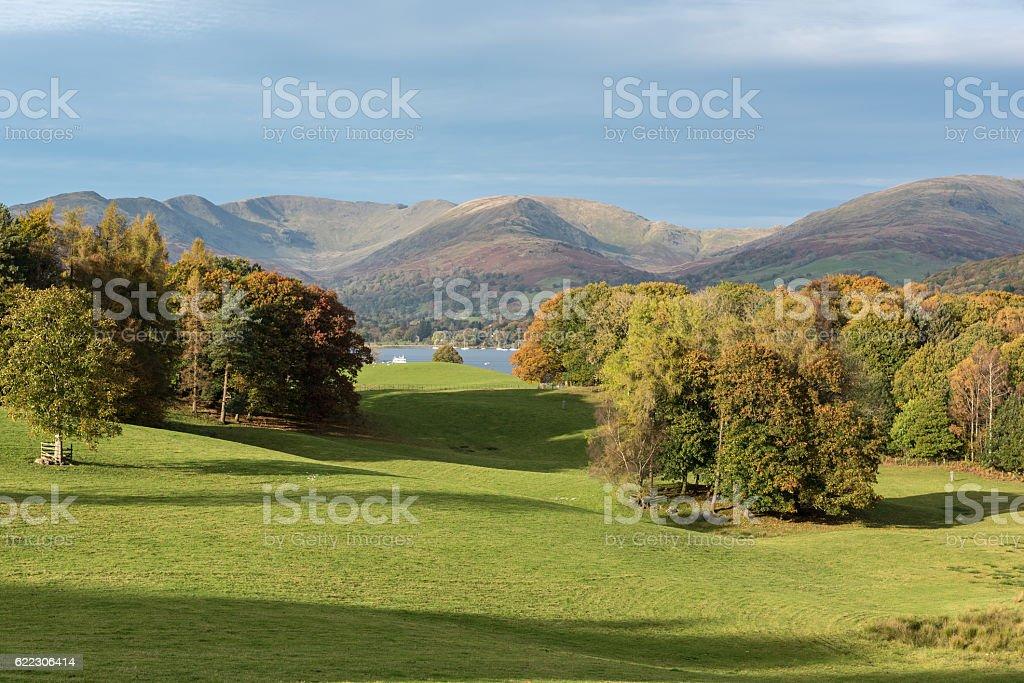 Windermere autumn stock photo