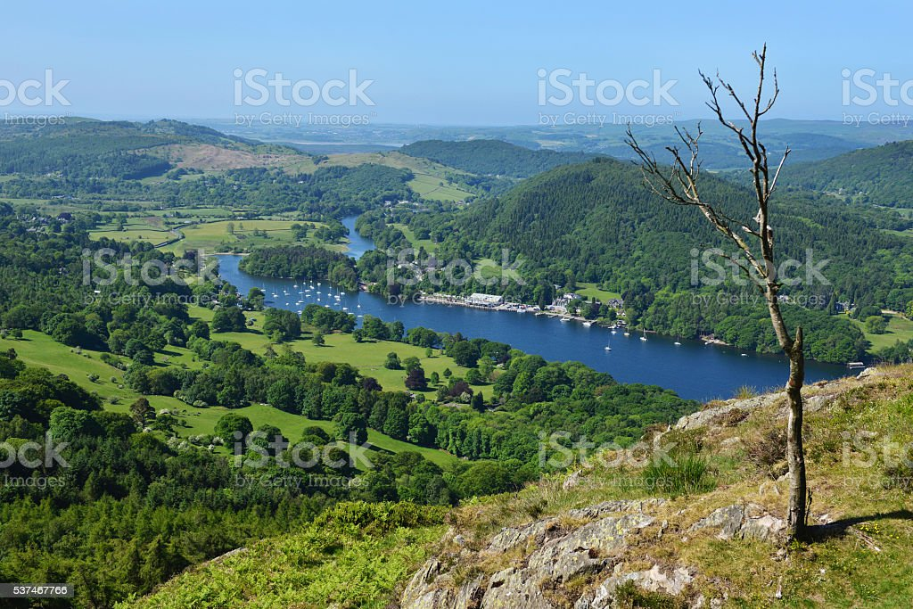 Windermere in English Lake District stock photo