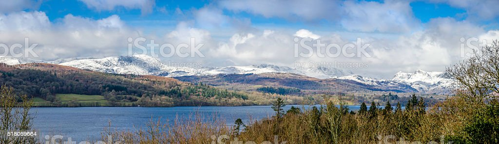 Windermere in Winter stock photo