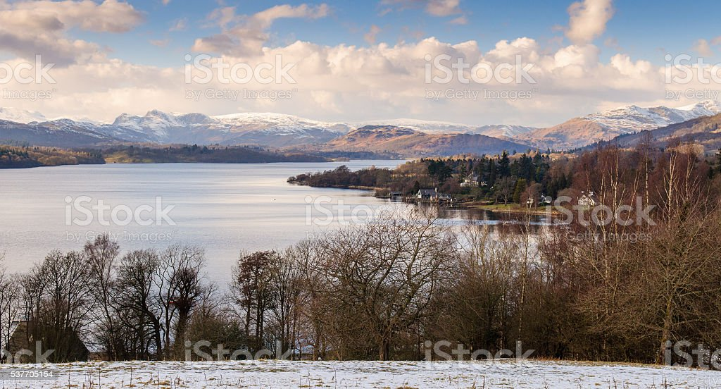 Windermere lake stock photo