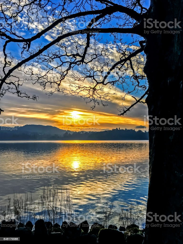 Windermere Sunset stock photo