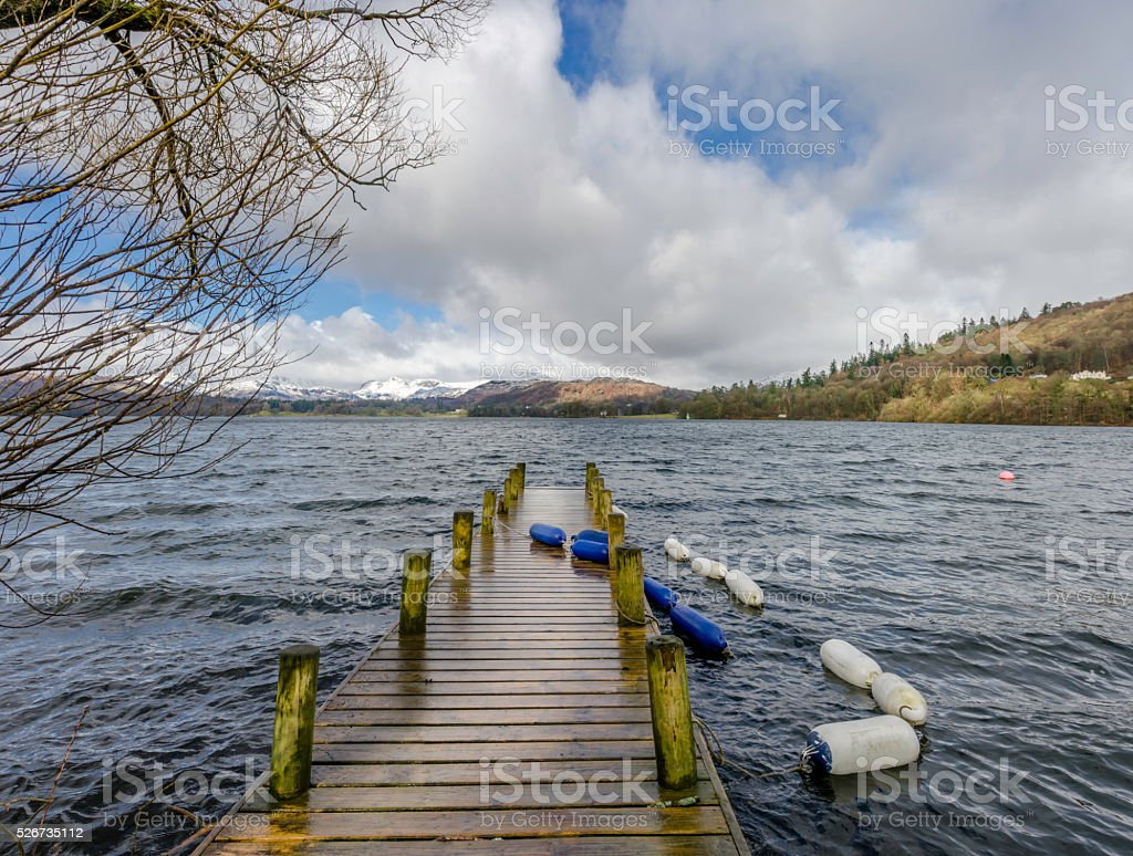 Windermere Winter stock photo