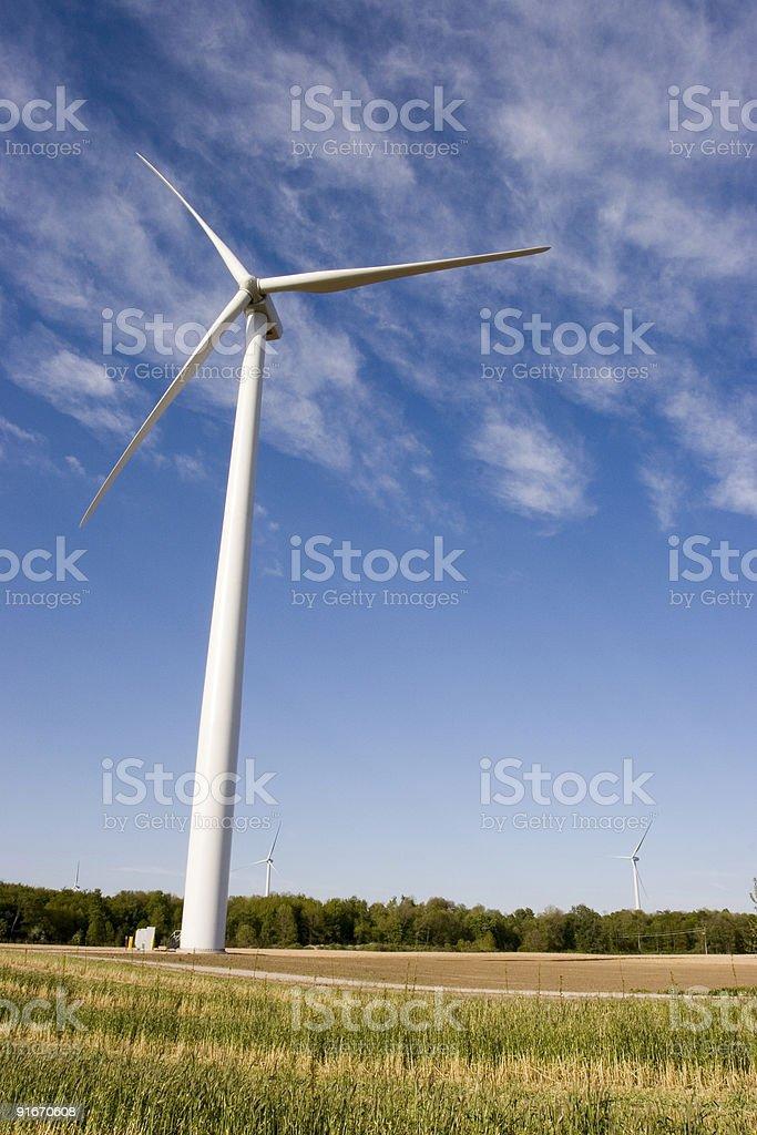 Windfarm Field stock photo