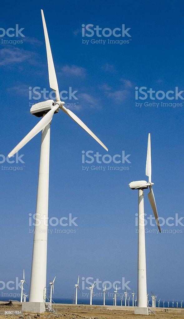 Windfarm in Gran Canaria royalty-free stock photo