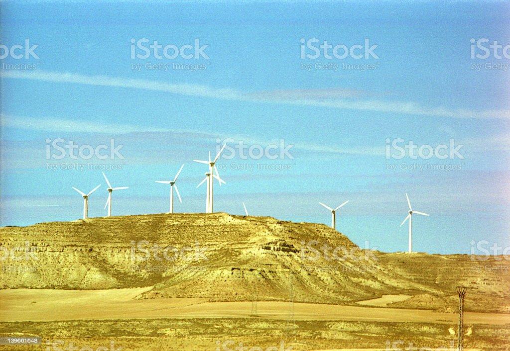 Windfarm landscape royalty-free stock photo
