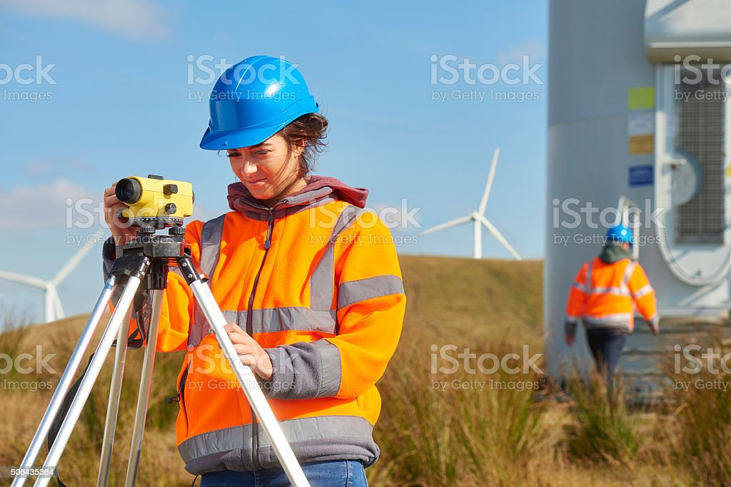 windfarm monitoring. stock photo