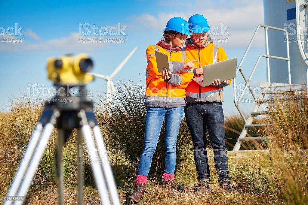 windfarm monitoring. stock photo