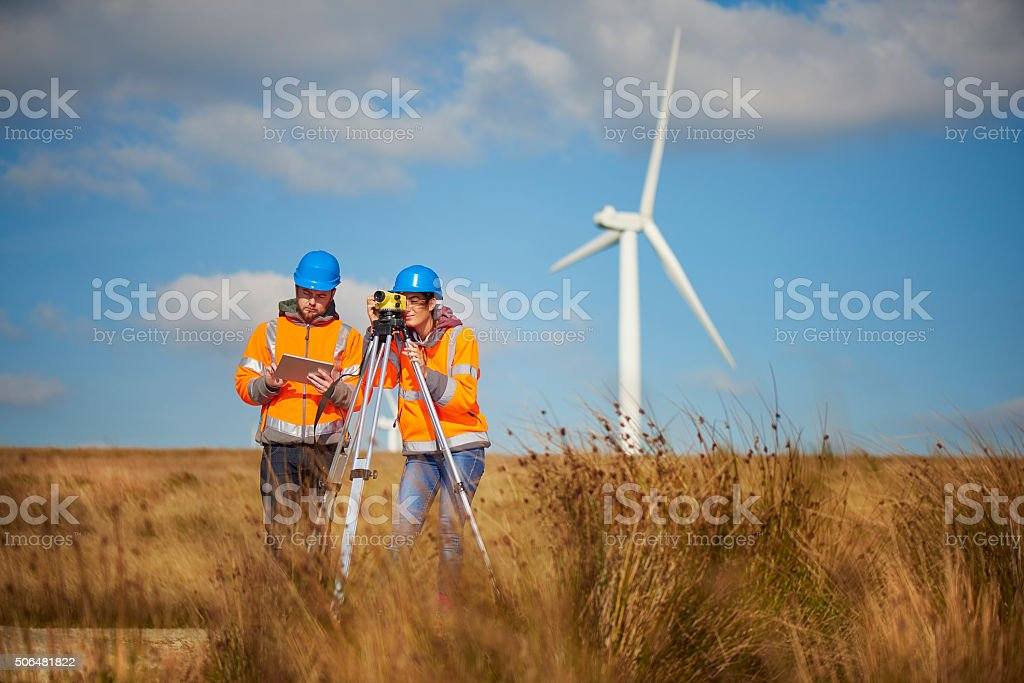 windfarm power is the future stock photo