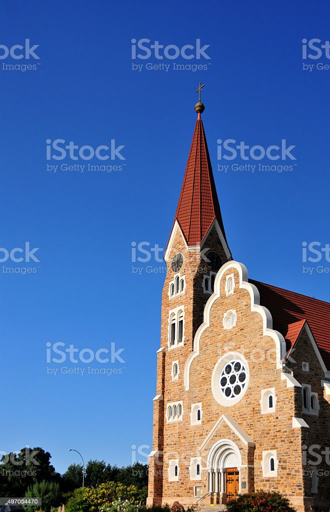 Windhoek Christuskirche, Namibia stock photo