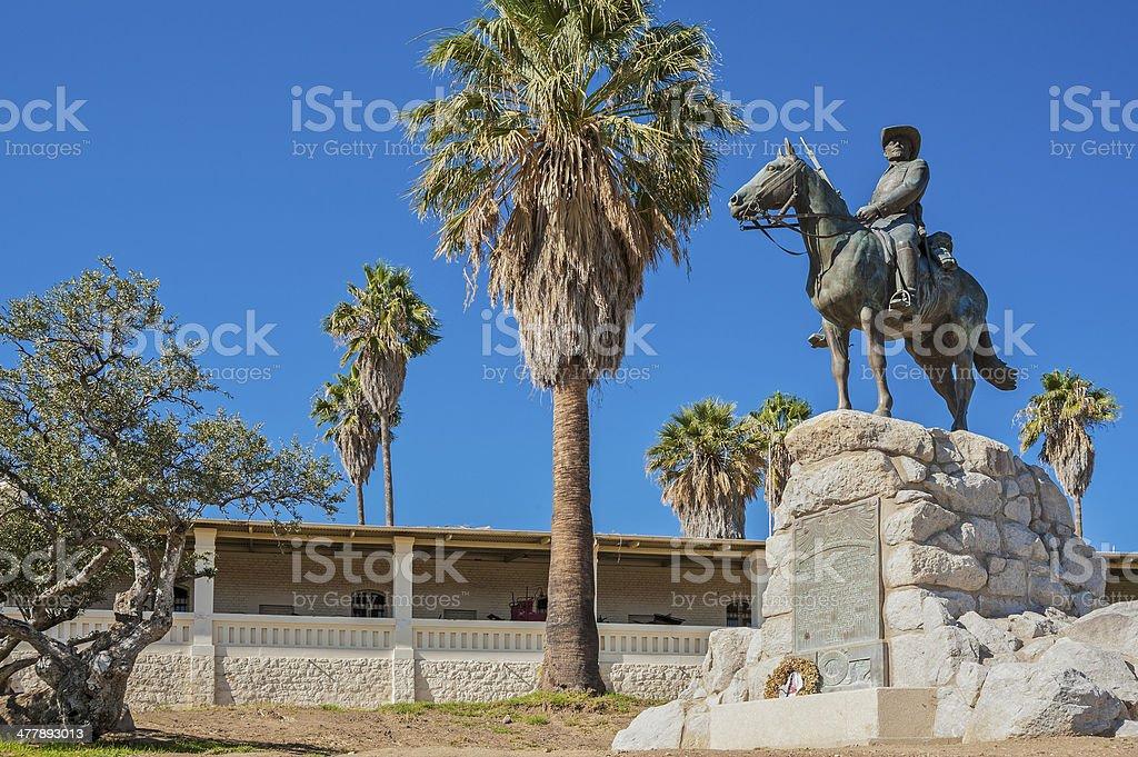Windhoek, equestrian memorial or 'German Rider of Southwest' stock photo