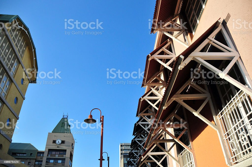 Windhoek, Namibia: modern and colonial architecture stock photo