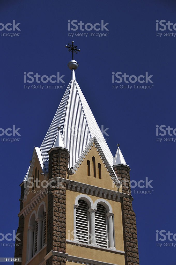 Windhoek, Namibia: St. Mary's Cathedral - spire royalty-free stock photo
