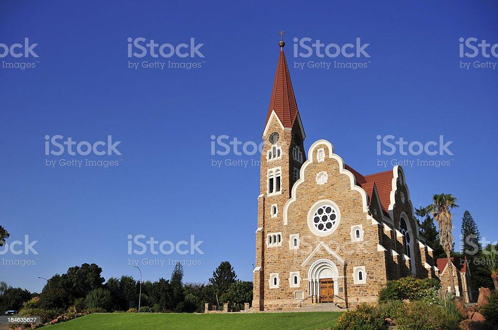 Windhoek, Namibia: the Christuskirche stock photo