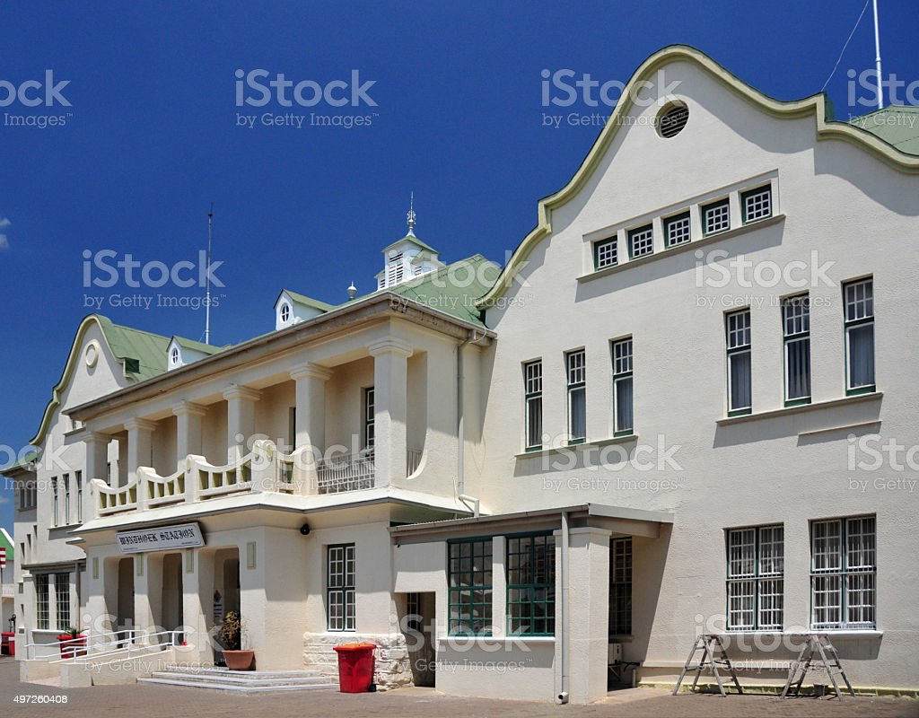 Windhoek Railway Station, Namibia stock photo