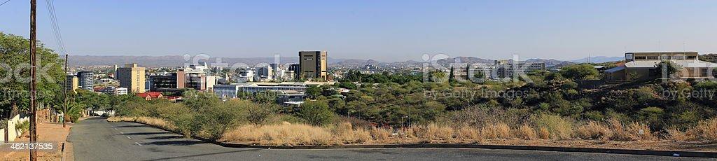 Windhoek skyline panorama stock photo