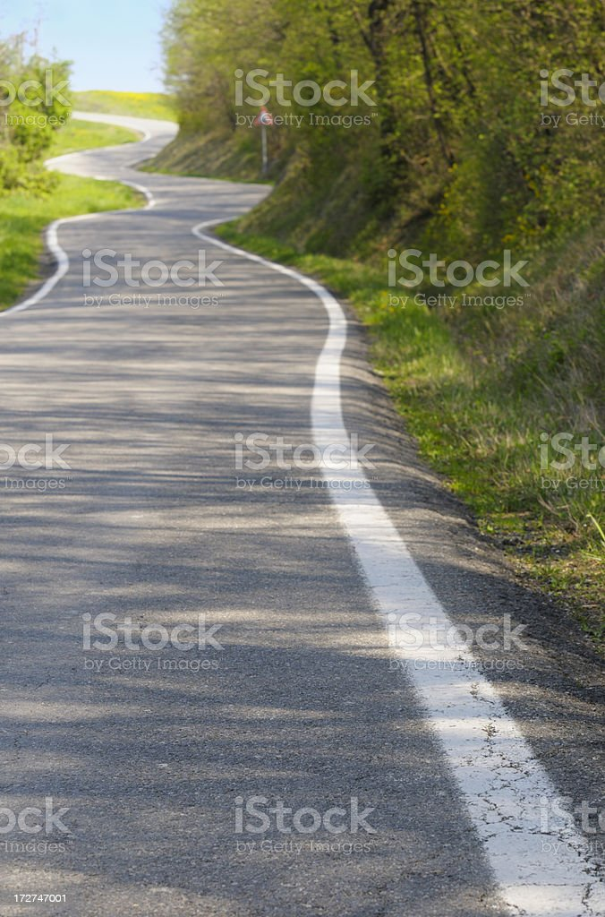 Winding Country Road royalty-free stock photo