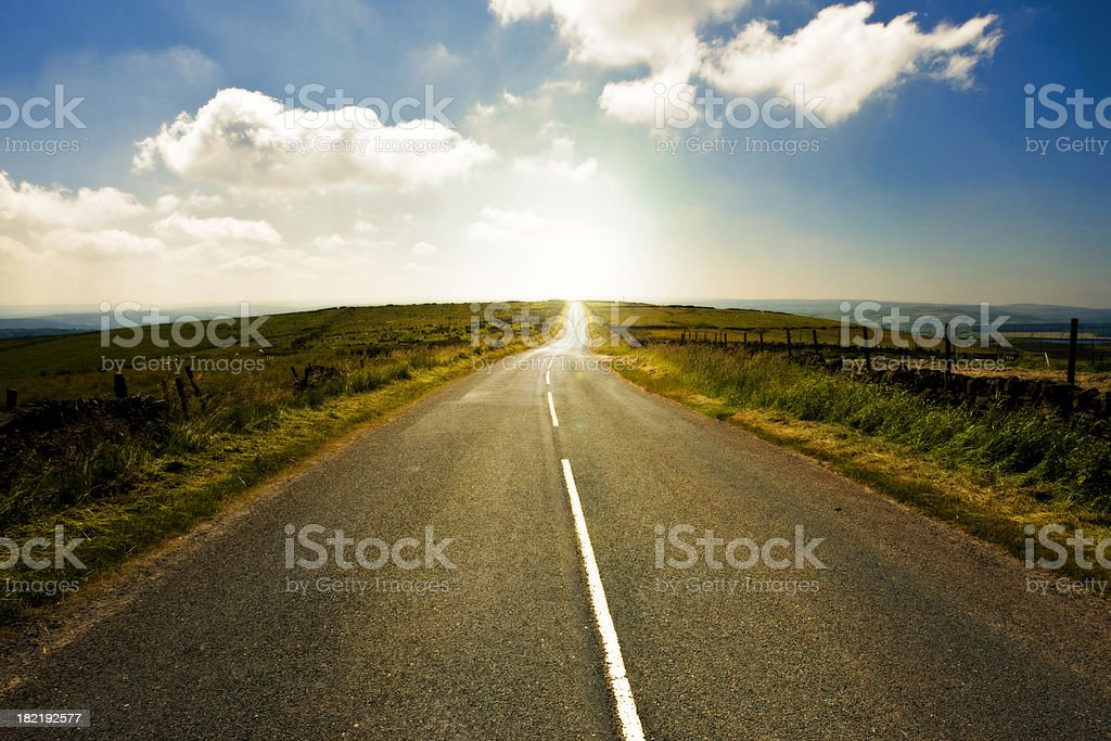 Winding Country Road Yorkshire England royalty-free stock photo