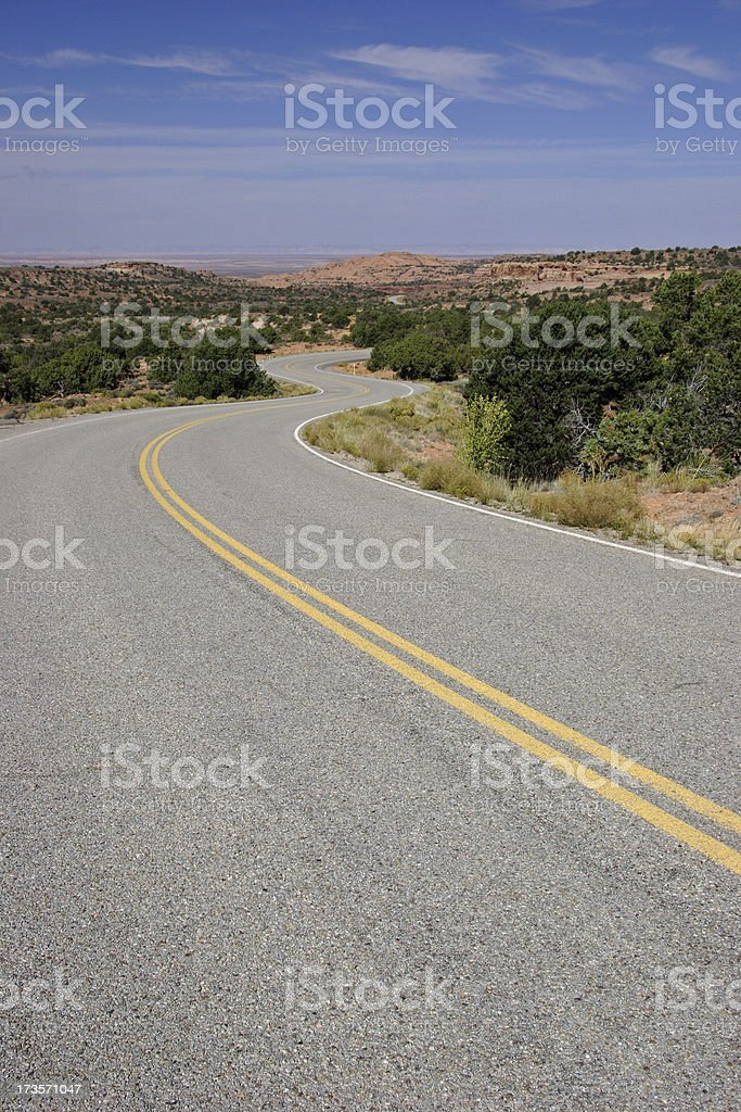 Winding, Curving Road stock photo