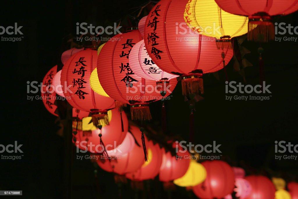 Winding Lanterns: Chinese New Year stock photo