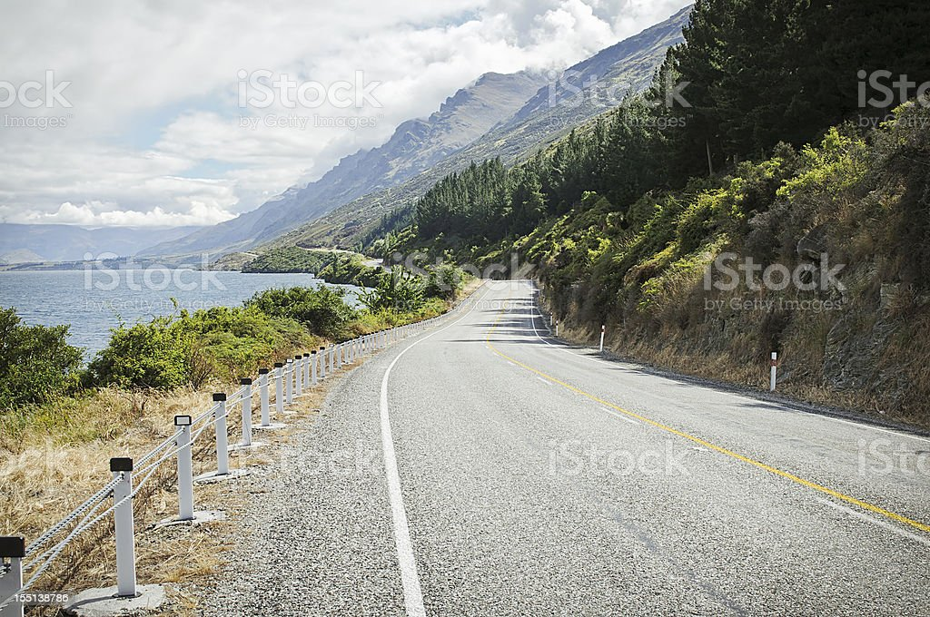 Winding Mountain Highway royalty-free stock photo