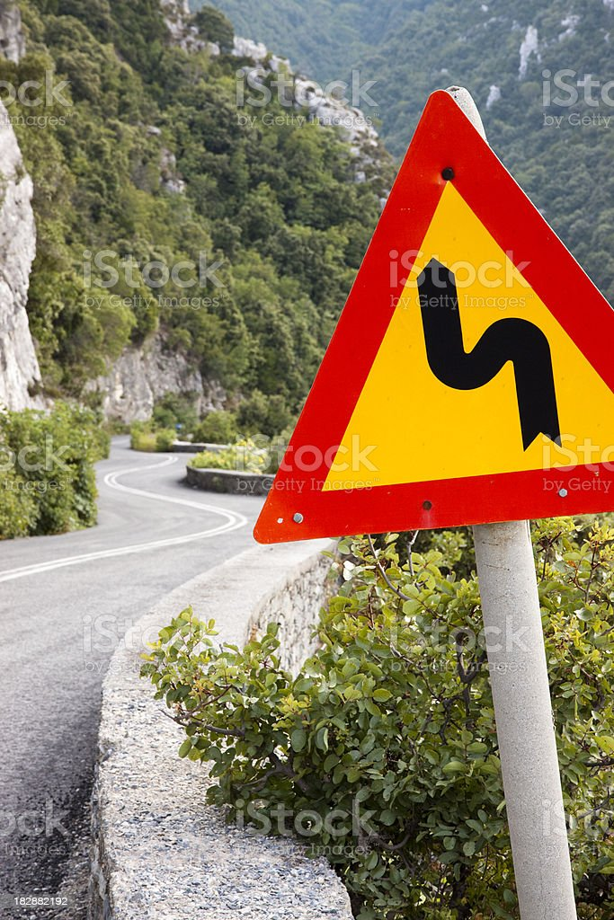 Winding Mountain Road stock photo