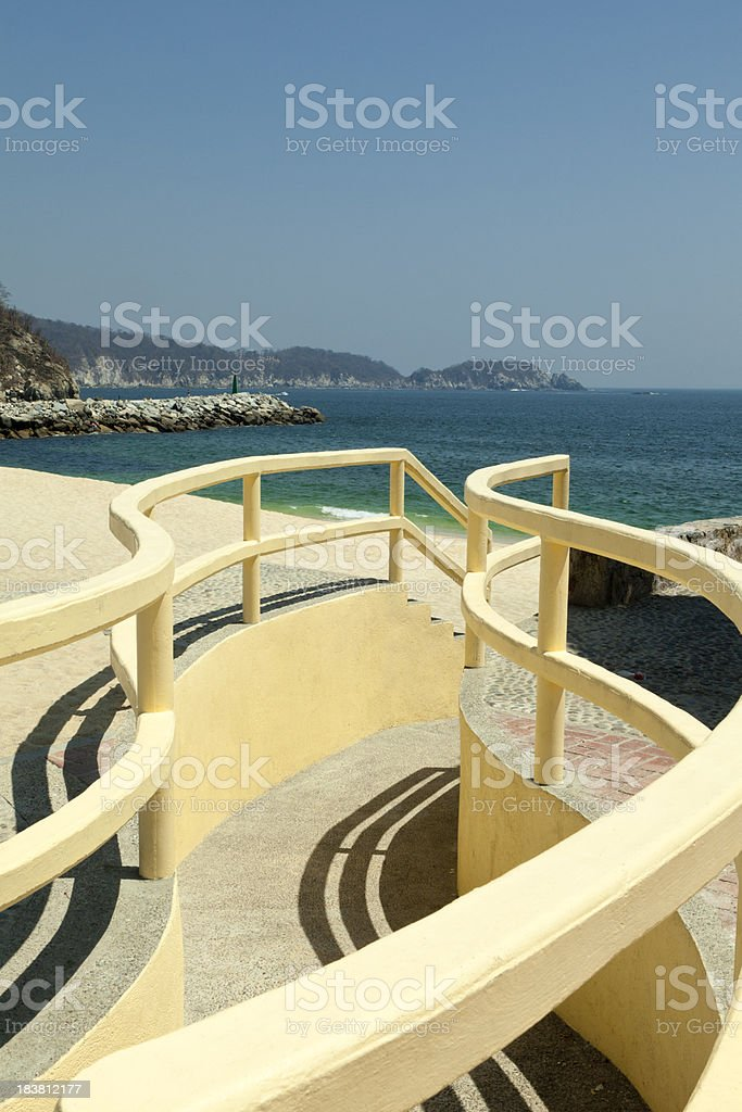 Winding Path to Beach, Mexico royalty-free stock photo