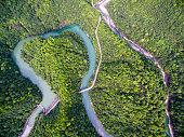 Winding River,Aerial Aerial