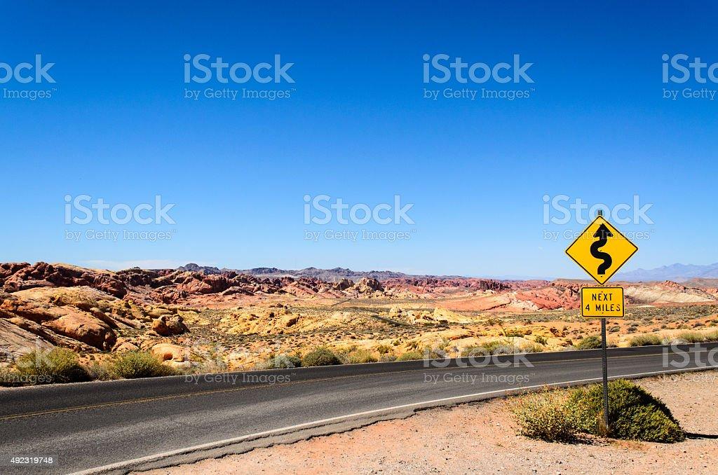 Winding Road Ahead stock photo