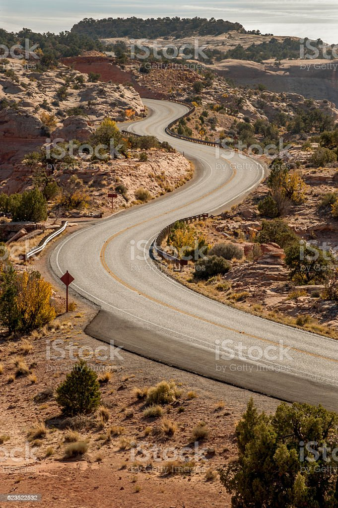 Winding Road, Canyonlands National Park stock photo