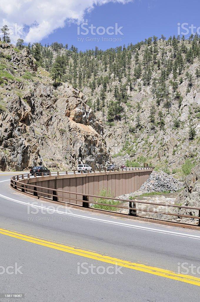 Winding Road, Colorado royalty-free stock photo