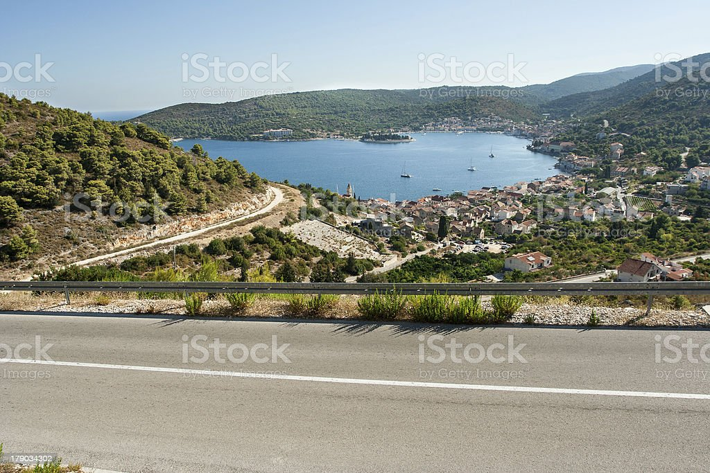 winding road in deserted landscape royalty-free stock photo