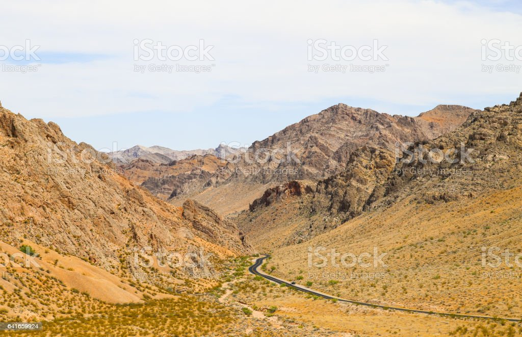 Winding Road in the Valley of Fire stock photo