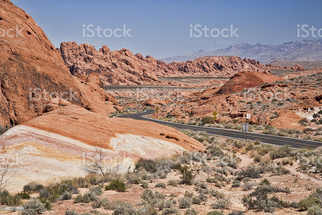 Winding Road in Valley of Fire royalty-free stock photo
