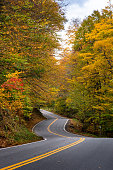 winding road in Vermont