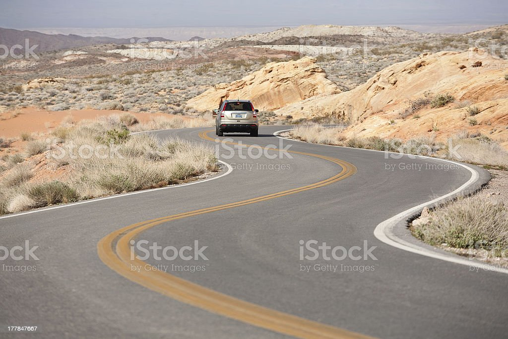 Winding Road Nevada royalty-free stock photo